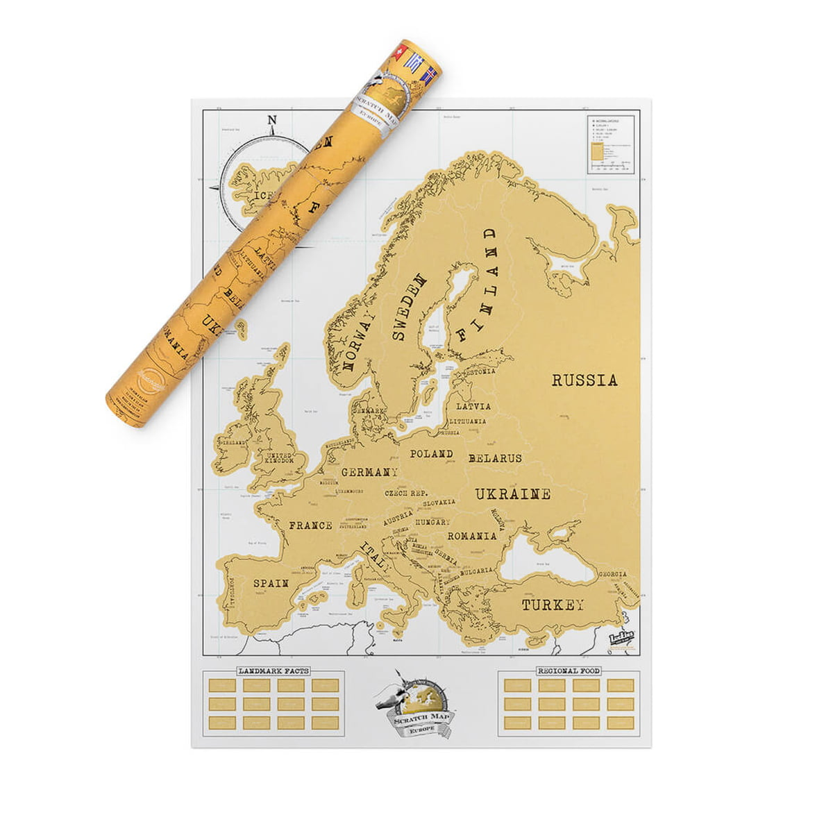 the europe scratch map by luckies in the shop. Black Bedroom Furniture Sets. Home Design Ideas