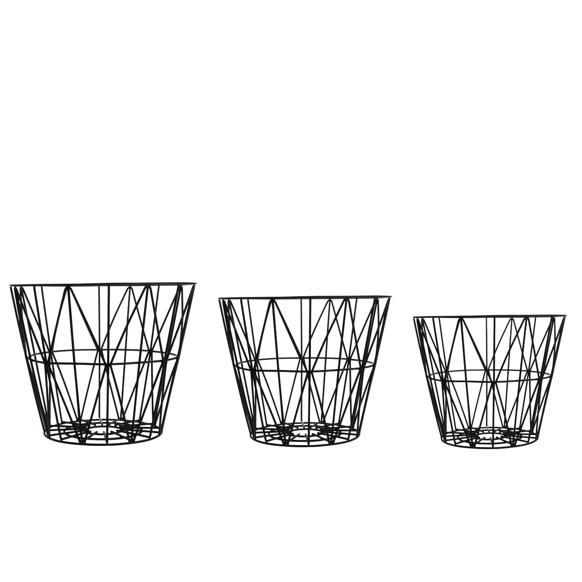 ferm living wire basket in the design shop. Black Bedroom Furniture Sets. Home Design Ideas