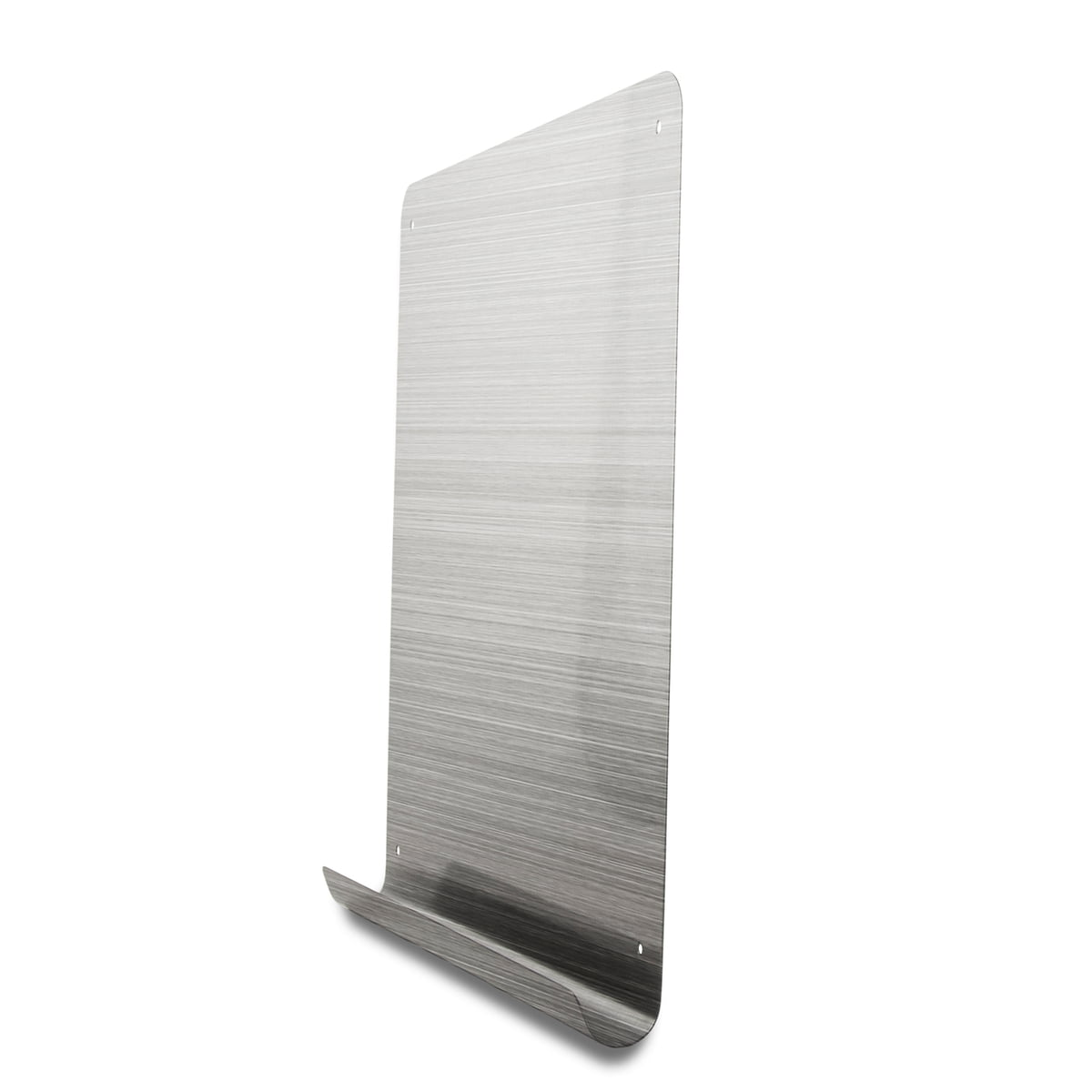 the magnetic board by threebythree - magnetic board with stainless steel shelf