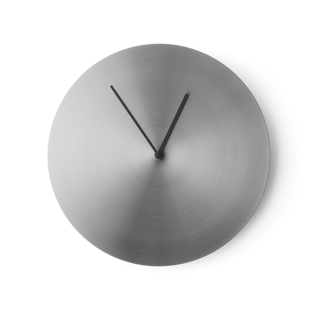 norm wall clock by menu in the shop - menu  norm wall clock brushed stainless steel