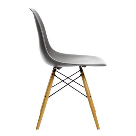 Vitra - Eames Plastic Side Chair DSW, yellow maple / basalt