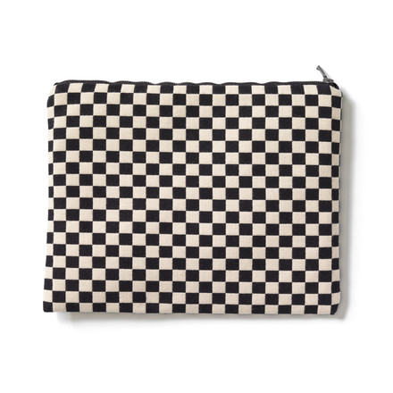Vitra - Zip Pouch, black / white, large