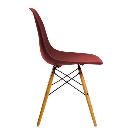 Vitra - Eames Plastic Side Chair DSW, yellow maple / oxide red