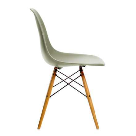 Vitra - Eames Plastic Side Chair DSW, yellow maple / moss grey
