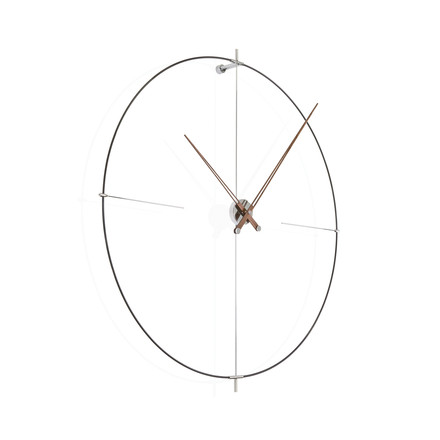 Bilbao wall clock by nomon in black made of walnut wood