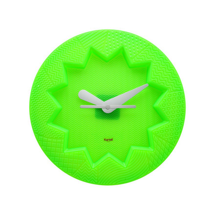 Crystal Palace wall clock by Kartell in green