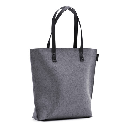 The Hey Sign - Prag Felt Bag in Anthracite