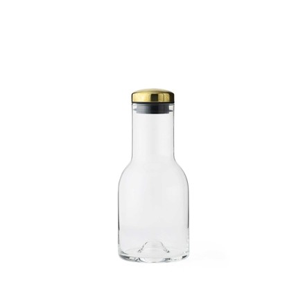 New Norm water bottle 0.5L by Menu with brass lid