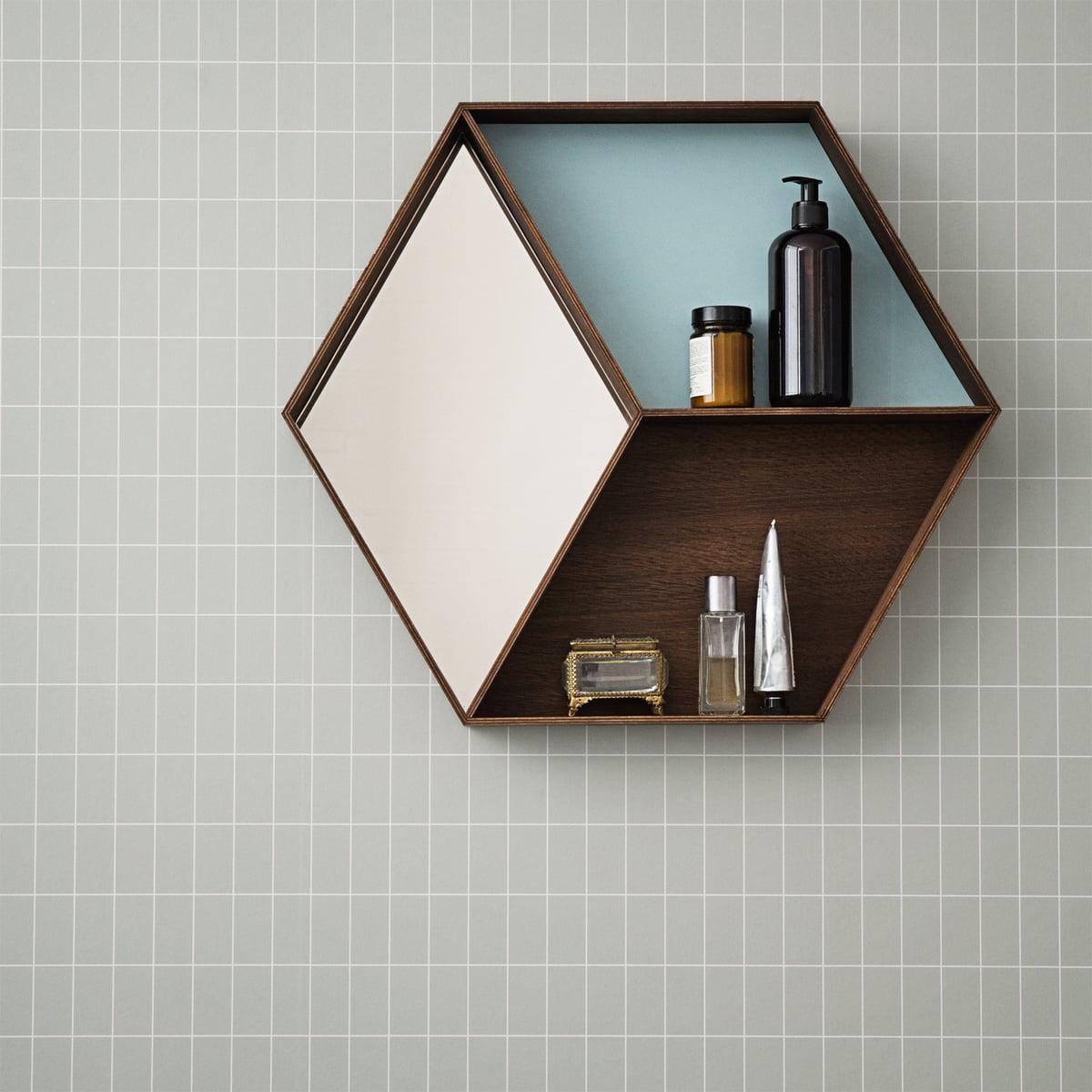 the wall wonder mirror from ferm living - ferm living  wall wonder mirror smoked oak