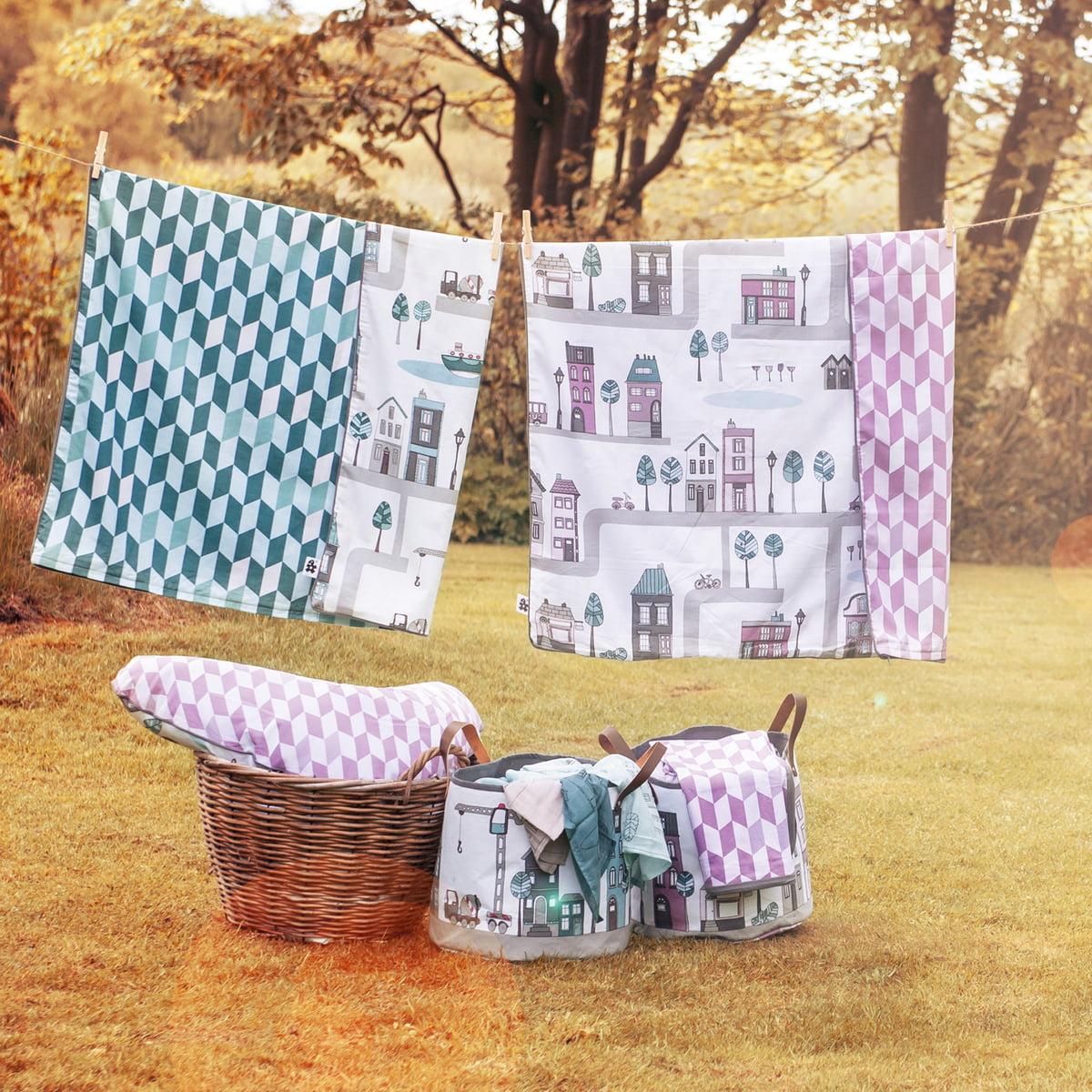 storage basket village by sebra in the shop. Black Bedroom Furniture Sets. Home Design Ideas