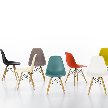 Vitra - Eames Plastic Side Chair DSW, various - group image