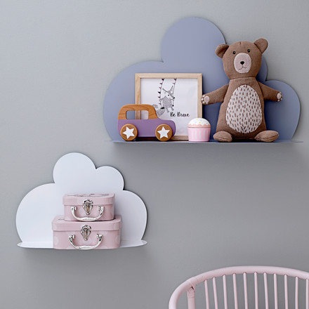 The Bloomingville - Cloud Shelf in small, white and large, sky blue