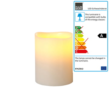 LED Real Wax Candle by Klein & More in ivory.