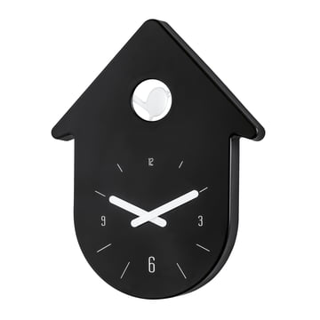 Koziol - Toc-Toc Wall Clock, black / white