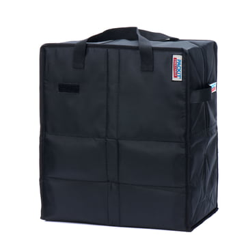 PackIt - Freezable Shopping Bag, black - inclined