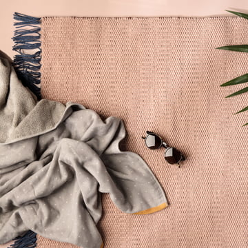 ferm Living - Nomad Rug, rose